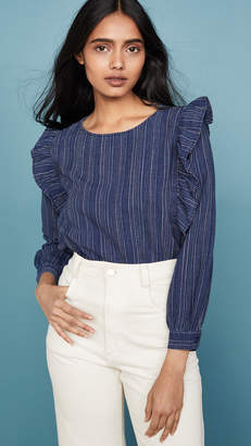 Madewell Ruffle Front Top