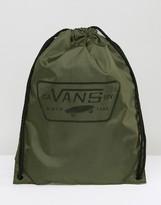 Vans League Drawstring Backpack In Khaki V002W6KEK
