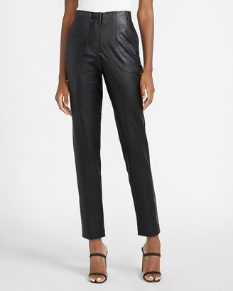 Express High Waisted Vegan Leather Ankle Pant