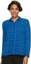 Dana Buchman Women's Striped Chiffon Shirt