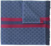 Gucci GG jacquard shawl with Web - men - Silk/Wool - One Size