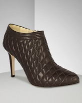 "Anne Klein Women's ""Baxley"" Quilted Leather Ankle Boots"