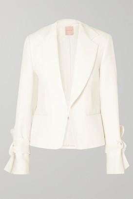 Roksanda Bow-detailed Cady Jacket - Ivory