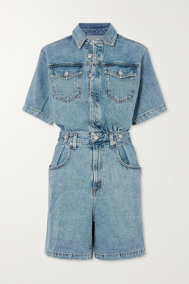 AGOLDE Rio Zora Denim Playsuit - Mid denim