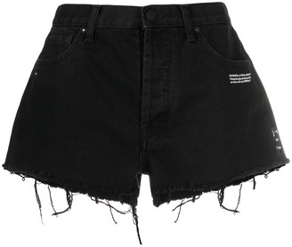 Off-White Distressed Denim Shorts