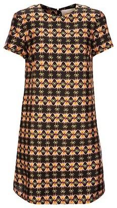La DoubleJ Edition 22 Floral Silk Mini Swing Dress