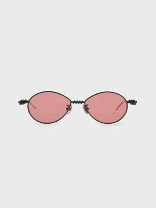 Charles & Keith Twine Detail Oval Sunglasses