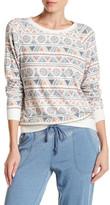 PJ Salvage Long Sleeve Geo Print Fleece Pullover