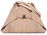 Akris Ai Python Small Shoulder Bag, Neutral