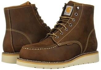 Carhartt 6 Steel Toe Waterproof Wedge Boot (Dark Bison Oil Tanned) Men's Work Boots
