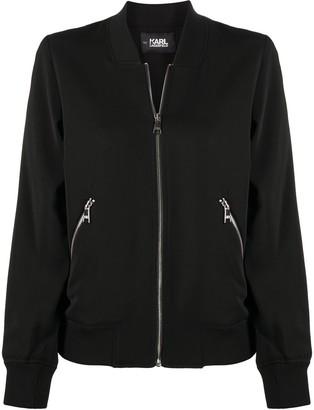 Karl Lagerfeld Paris Legend jacquard bomber jacket