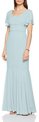 Gina Bacconi Women's Sylvia Chiffon Maxi Party Dress, (Blue Pearl)