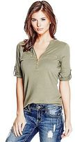 GUESS Women's Violet Short-Sleeve Top