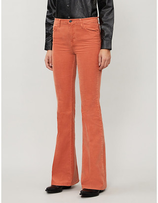 J Brand Valentina mid-rise corduroy flared trousers