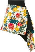 Fausto Puglisi asymmetric floral skirt - women - Silk/Spandex/Elastane/Acetate/Viscose - 40