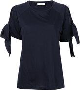 Dorothee Schumacher - ribbon-tie sleeve blouse - women - Cotton - 1