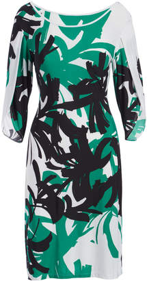 Green & Black Modern Touch Women's Casual Dresses kelly - Kelly Abstract Sheath Dress - Women