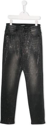 John Richmond Junior TEEN embellished slim-fit jeans