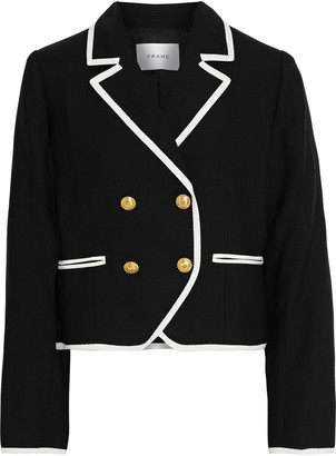 Frame Cropped Double-breasted Wool Jacket