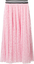 MSGM pleated lace skirt
