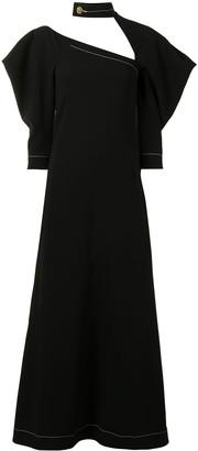 Proenza Schouler High Neck Long Dress