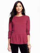Old Navy Relaxed Peplum-Hem Top for Women