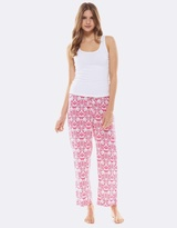 Deshabille Hope Crop Pant & Tank Set Pink/White