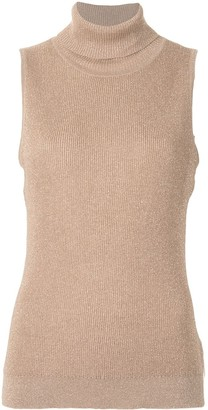 L'Agence Roll-Neck Sleeveless Top