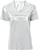 Maison Margiela contrast metallic top