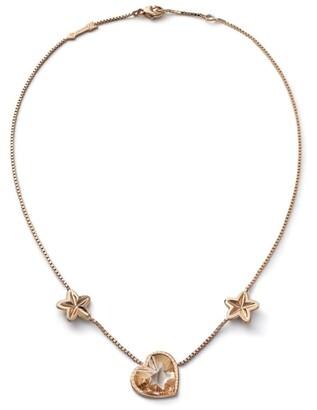 Baccarat Vermeil and Crystal Etoile de Mon Coeur Necklace