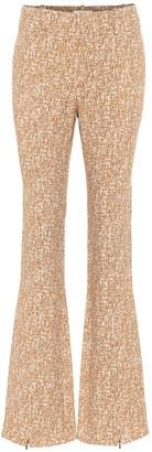 Chloé Printed flared crepe pants