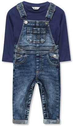 M&Co Denim dungarees and top set (9mths-3yrs)