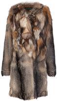 Jocelyn contrast collar coat