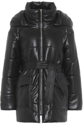 Nanushka Lennox faux leather puffer coat