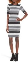 Socialite Stripe Midi Body-Con Dress
