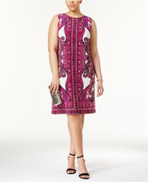 INC International Concepts Plus Size Printed Sheath Dress, Only at Macy's