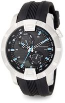 Saks Fifth Avenue Stainless Steel & Rubber Multi-Function Watch