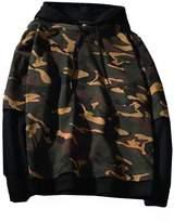 FCYOSO Men's Military Camouflage Pullover Hoodie Illusions Hip Hop Sweatshirts