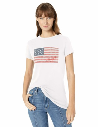 Chaps Women's Flag Cotton Graphic Tee