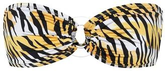 Reina Olga Bandcamp tiger-print bikini top