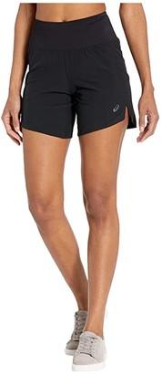 Asics Road 7 Shorts (Performance Black) Women's Clothing