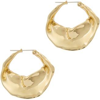 ARIANA BOUSSARD-REIFEL Georgia Brass Hoop Earrings