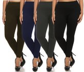 Chal- Women's Plus Size Basic Leggings
