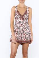 Solemio Sole Mio Printed Sleeveless Romper