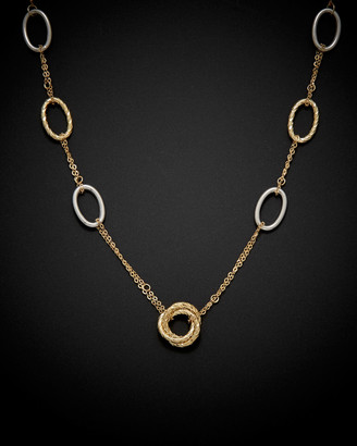 Italian Gold 14K Two-Tone Love Knot Necklace
