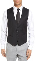BOSS Men's Huge Weste Trim Fit Wool Vest
