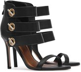 Reiss Hawthorne - Triple-strap Sandals in Black, Womens