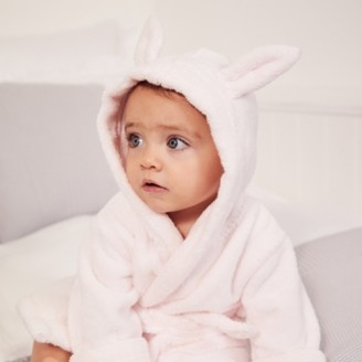 The White Company Bunny Ears Baby Robe, Pink, 6-12mths