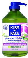 Kiss My Face Natural Shower Gel and Body Wash, Peaceful Patchouli, 32 Ounce