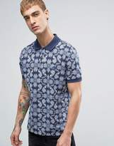 Pretty Green Caversham Paisley Polo In Blue